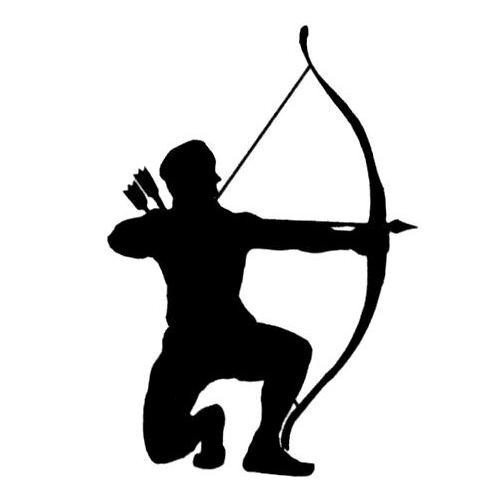 Bow And Arrow Silhouette Archer silhouette bowhunter um.