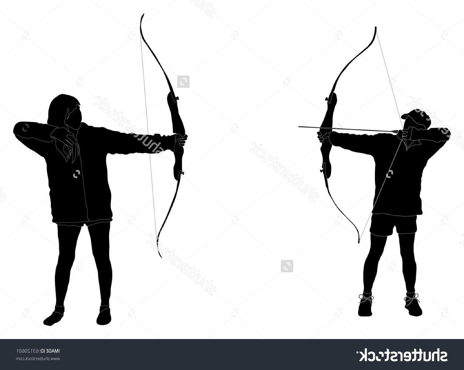 Top 10 Stock Vector Archery Silhouettes Images.