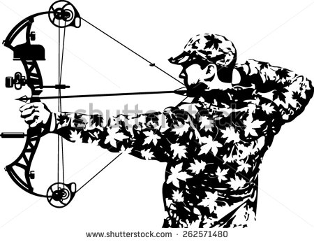 Bow Hunting Stock Images, Royalty.