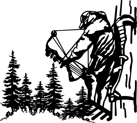 Bow Hunting Silhouette Clip Art.