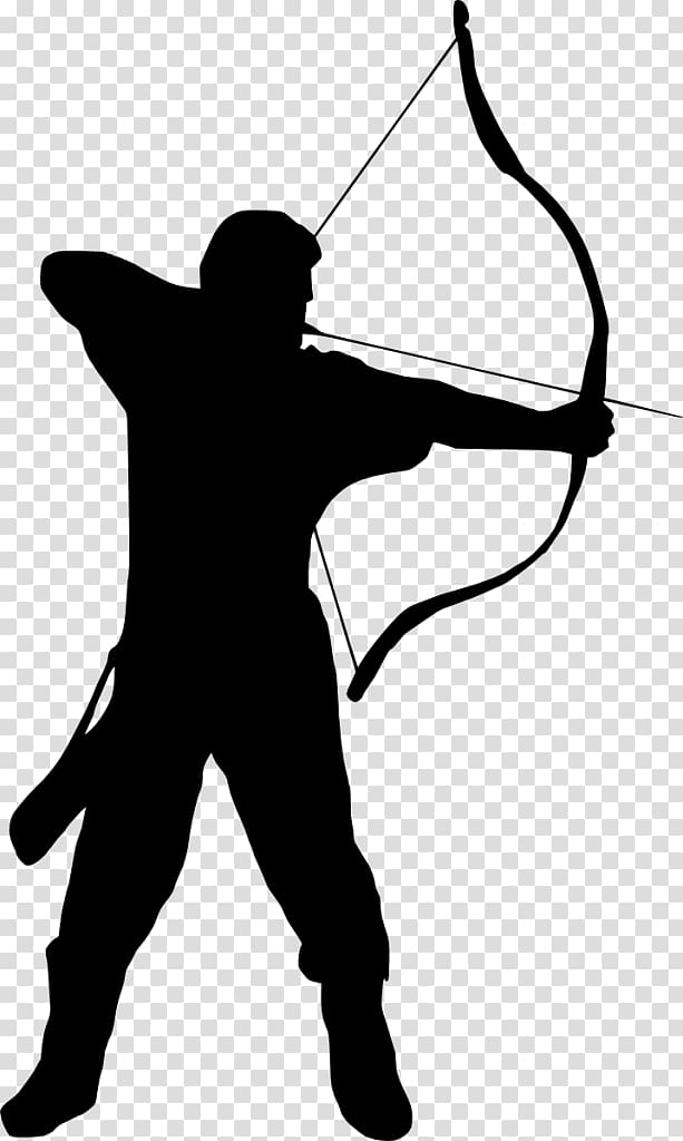 Silhouette of man holding bow , Archery Silhouette , archer.