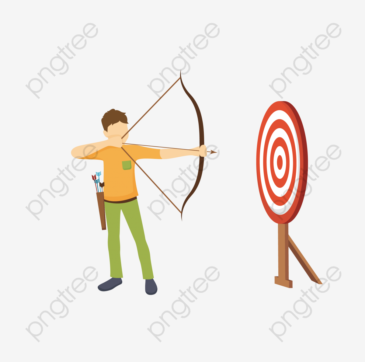 Transparent man archery PNG Format Image With Size 2126*2126 Preview.