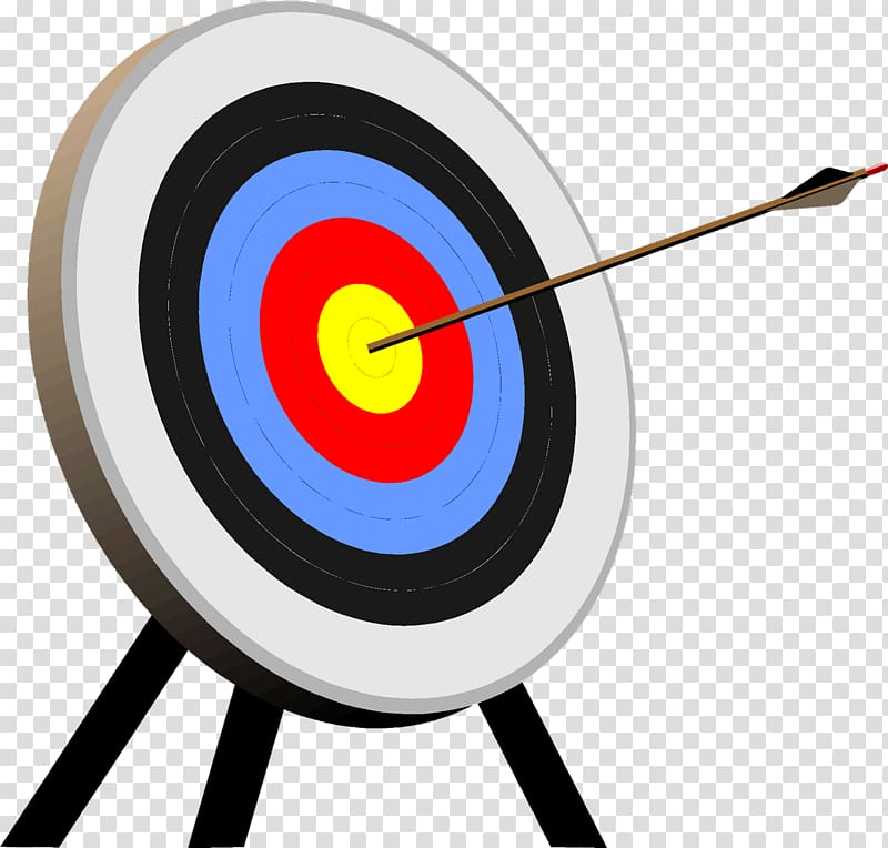 White and black arrow illustration, Target archery Shooting.