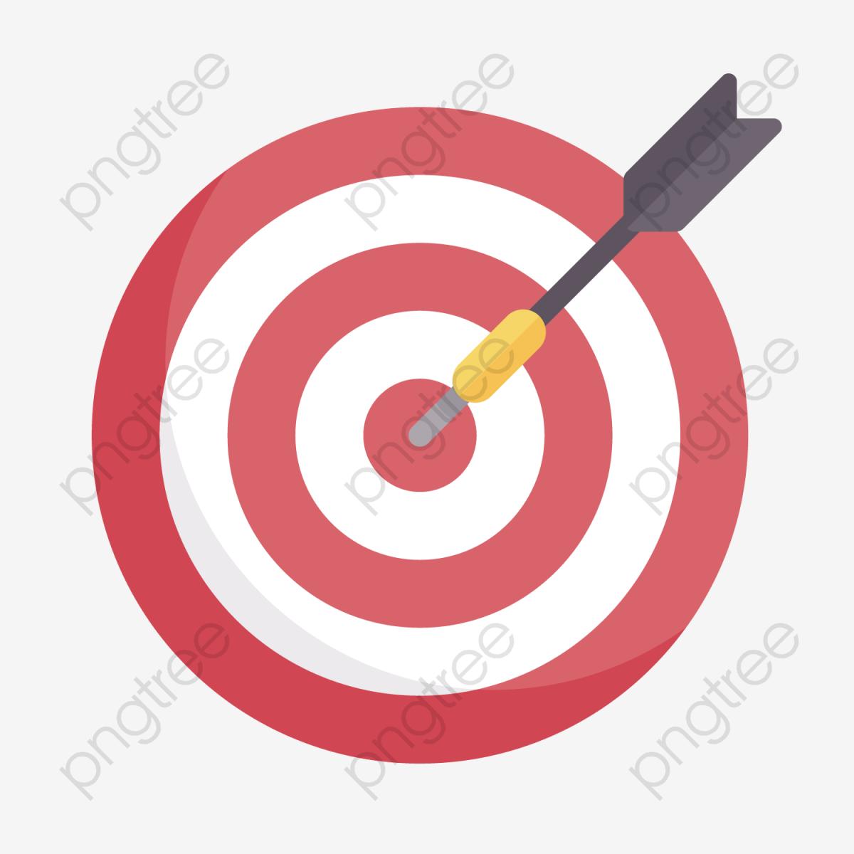 Red Archery Target, Gules, Circular, Texture PNG Transparent Clipart.