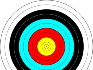 Archery Target clip art.