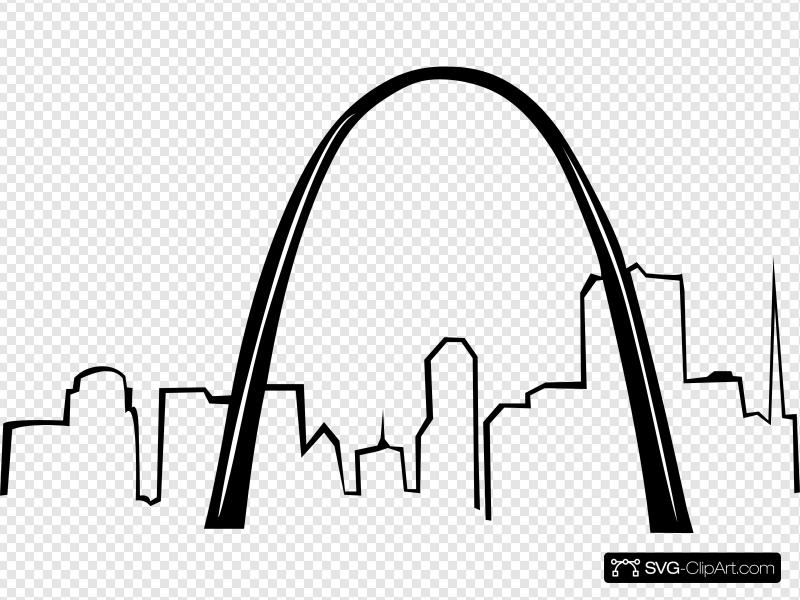 St Louis Gateway Arch Clip art, Icon and SVG.