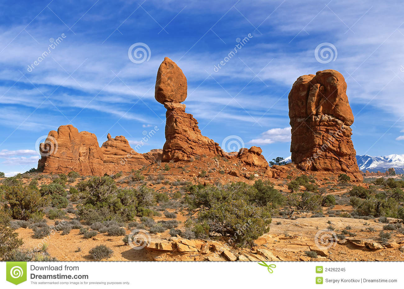 Balanced Rock At Arches National Park, Utah Royalty Free Stock.