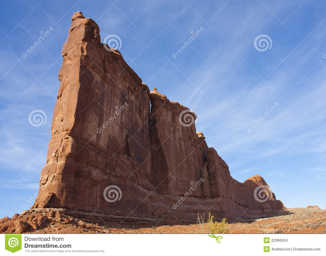 Arches National Park Rock Formation Stock Images.