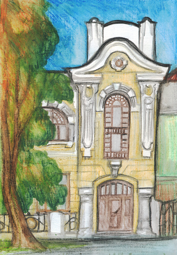 Painted Facade Pictures Clip Art, Vector Images & Illustrations.