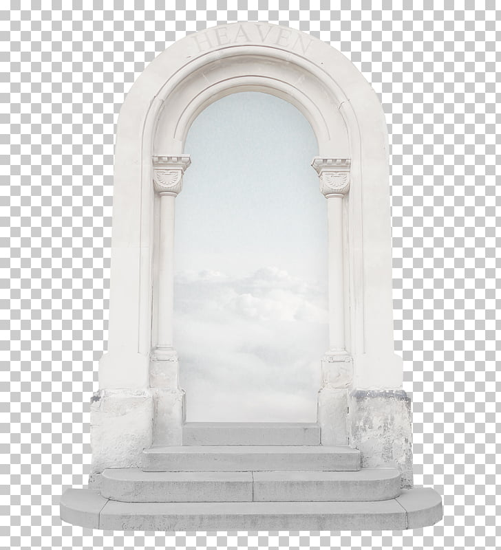 Arch Door, White arched door, white concrete arc PNG clipart.