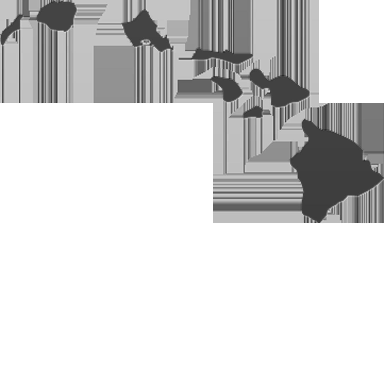 Clip Art of Hawaiian Islands.