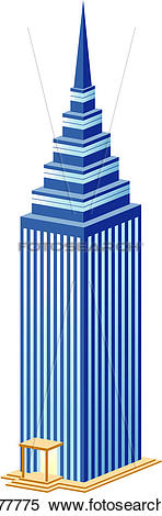 Clipart of office building, build, architecture, structure.