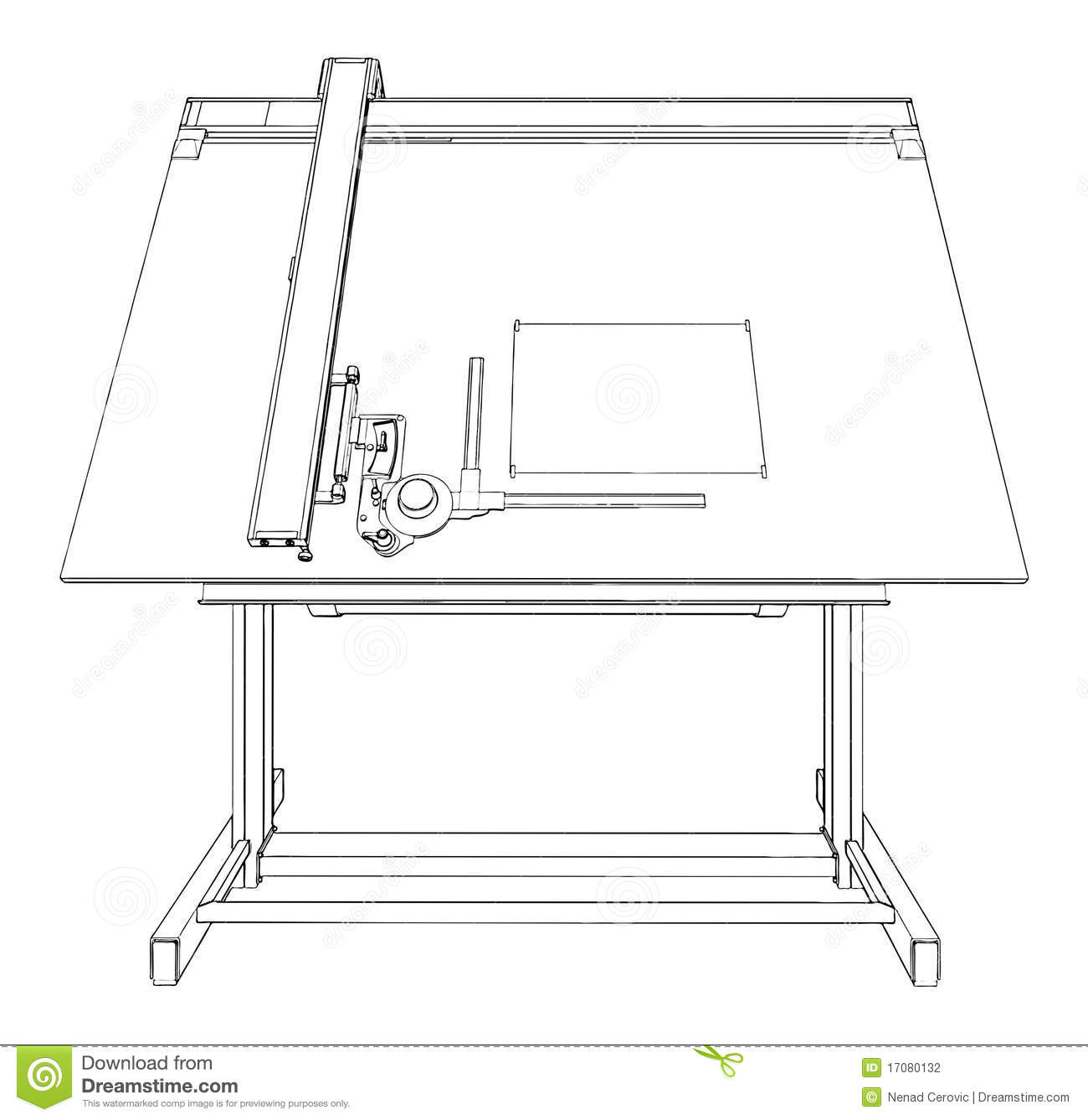 Architect clipart drafting table, Architect drafting table.