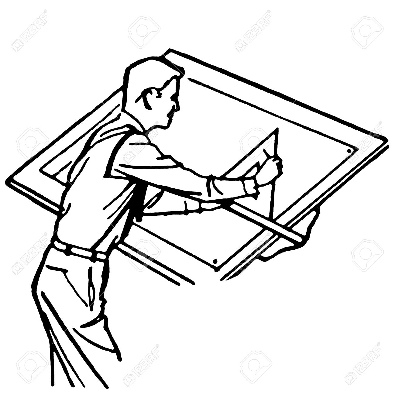 Architect clipart black and white 2 » Clipart Station.