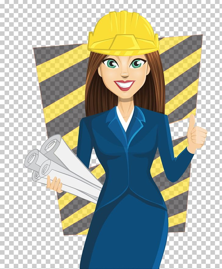 Girl Architecture PNG, Clipart, Architect, Balloon Cartoon.