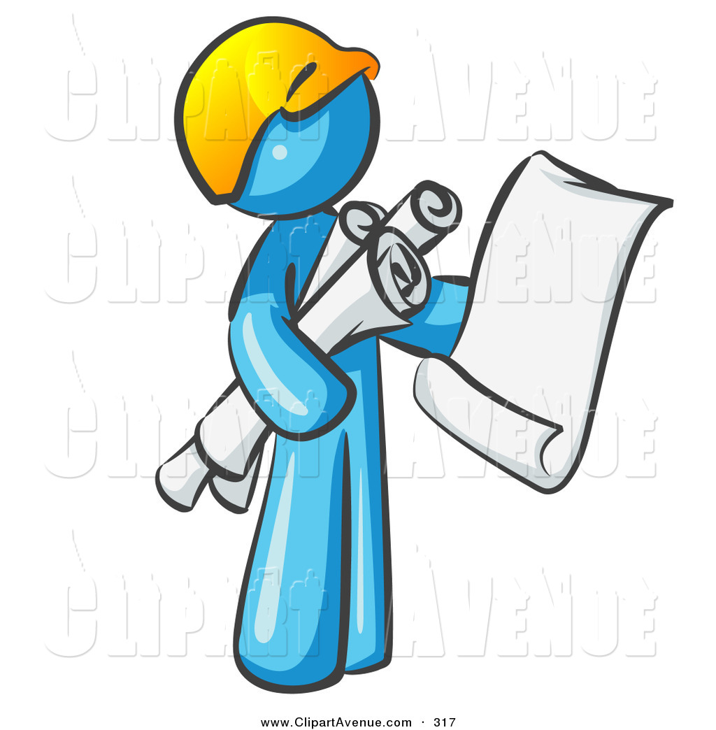 Architect clipart site manager, Architect site manager.