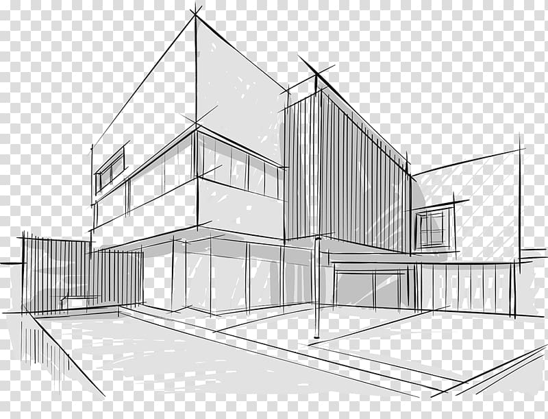 Architecture Drawing Building Sketch, building transparent.