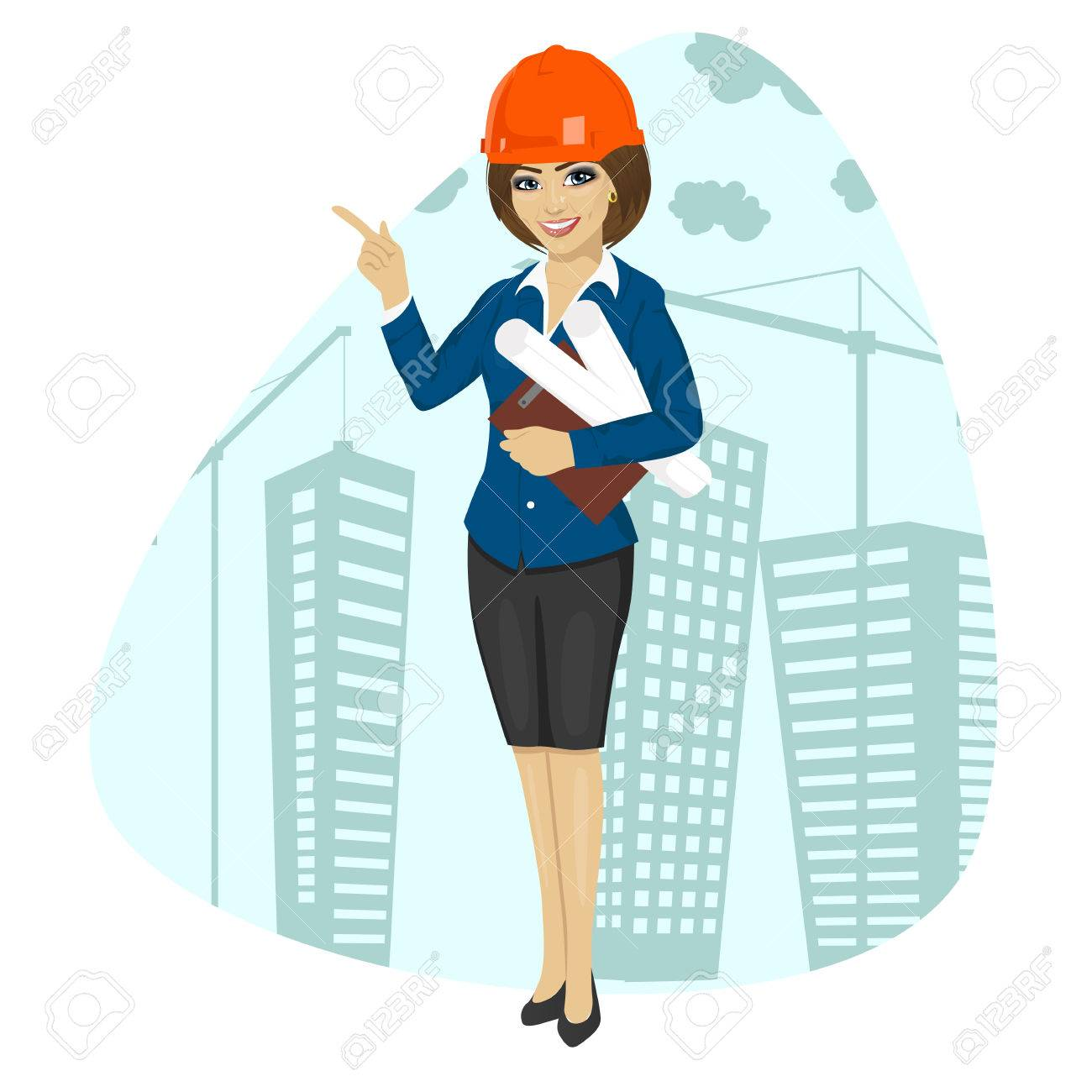 Architect Clipart Girl.