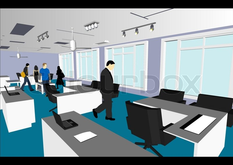 Architect\'s Home / Office in vector.