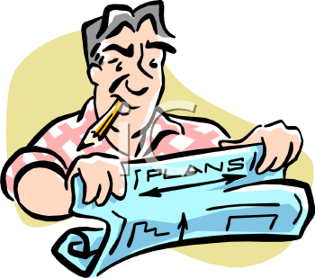 Plan for the construction clipart #5