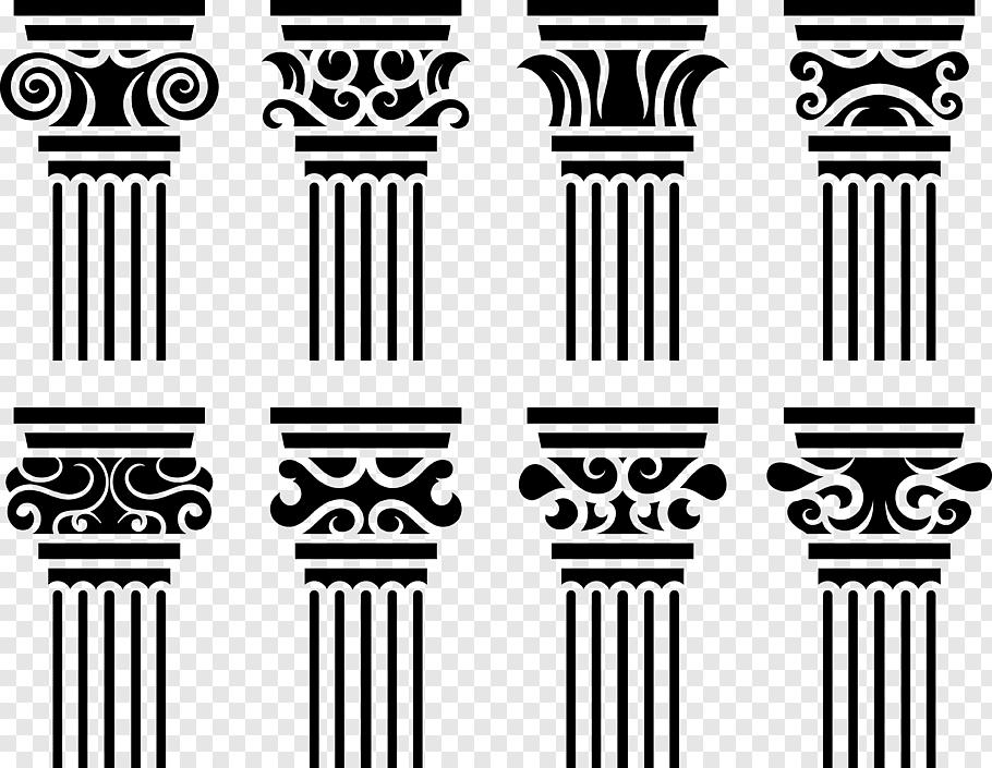 Europe Baroque architecture Column Graphic design, European.