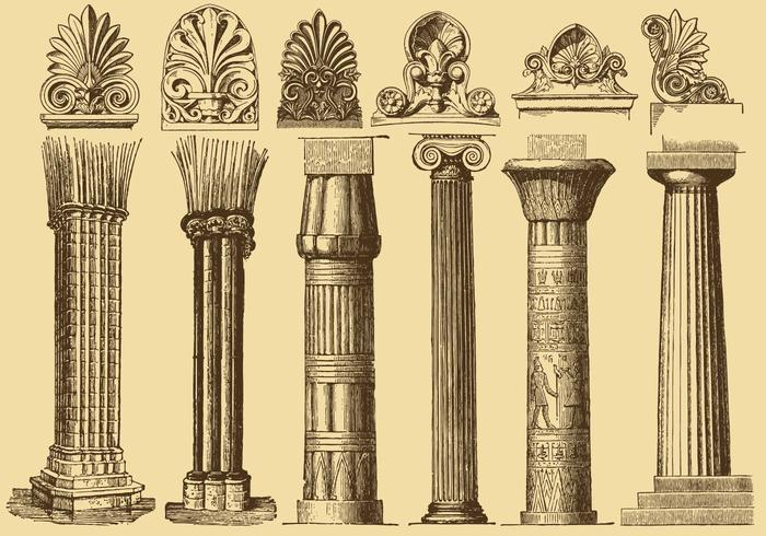 Old Style Drawing Columns.