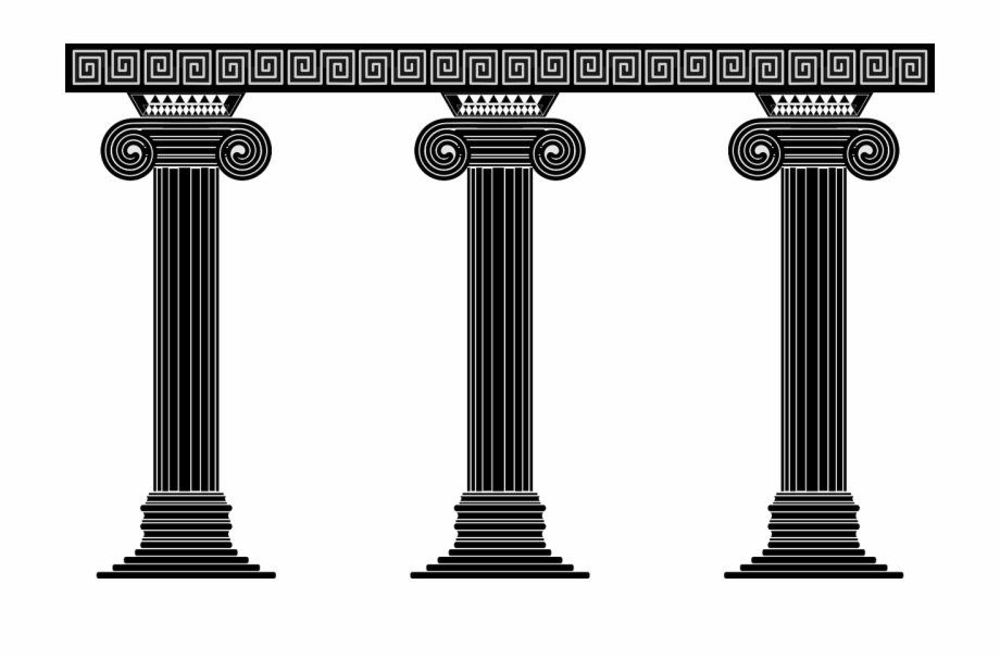 Columns Temple Architecture Png Image Greek Columns Vector.