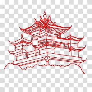 Hangzhou Architecture transparent background PNG cliparts.