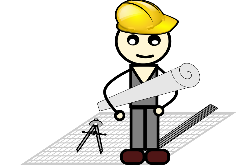 Free Clipart: Architect with compass and ruler.