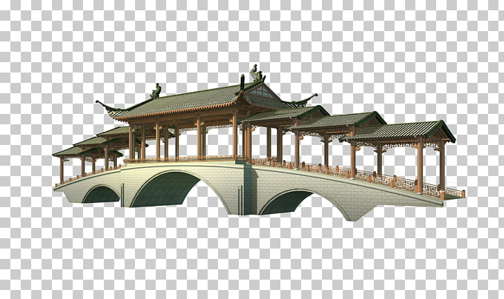 Arch bridge , Travel Posters decorative bridges PNG clipart.