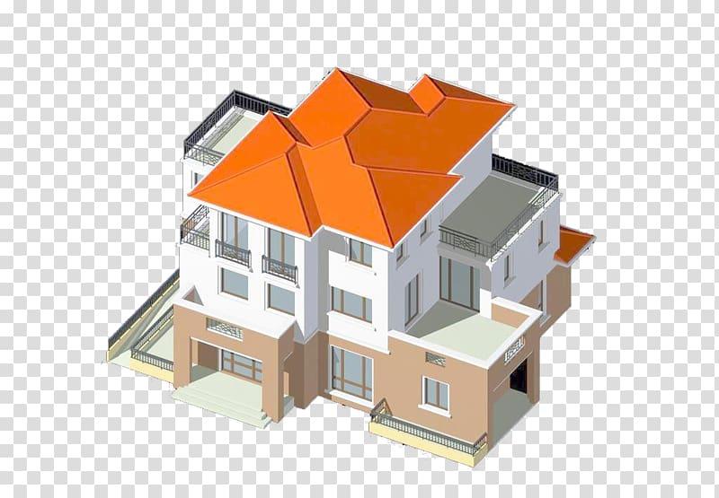 House 3D computer graphics Duplex, Three.