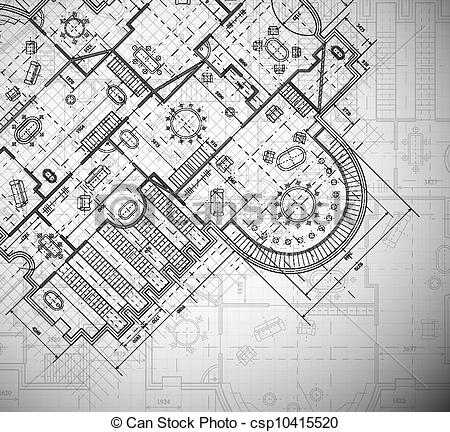 Vector Illustration of Architectural plan.
