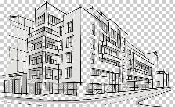 Building Architectural drawing Architecture Sketch, Hand.
