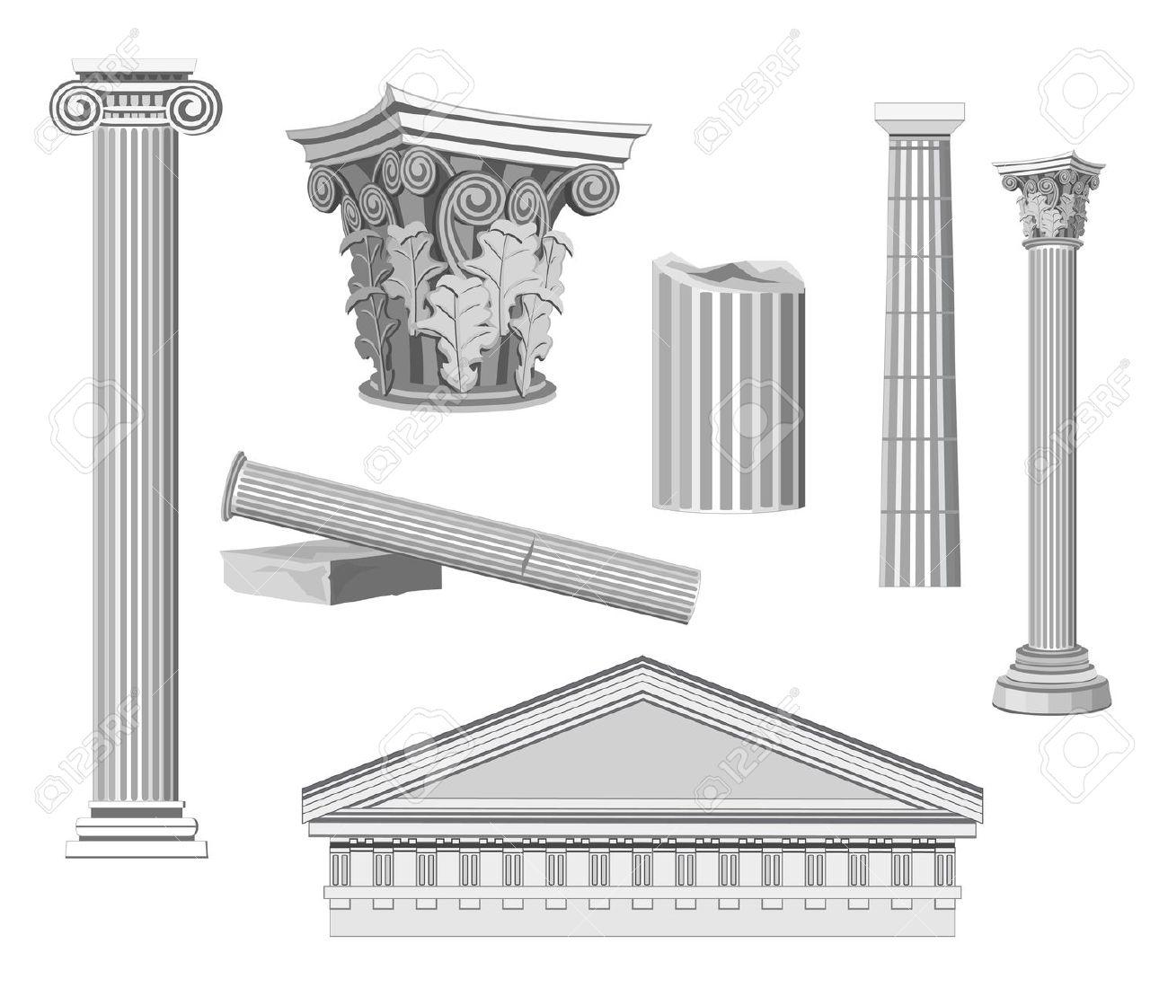 Architectural elements clipart.