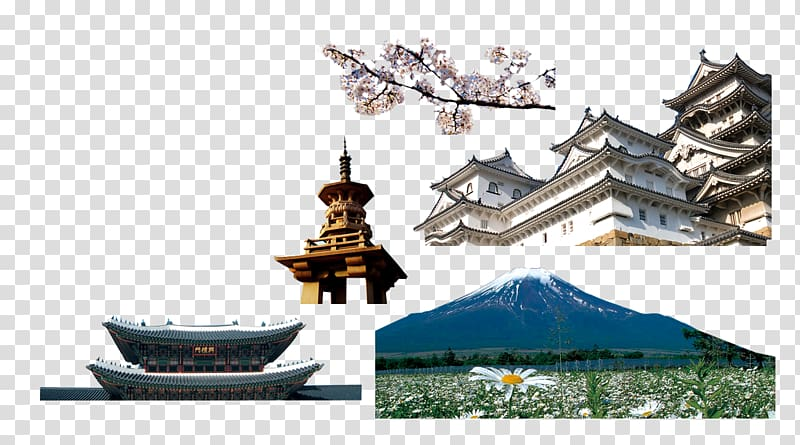 Architecture , Japan and South Korea architectural elements.