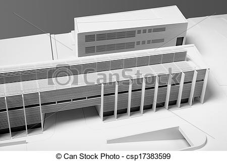 Stock Illustration of Architectural Model of Building restoration.