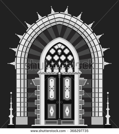 Architectural door clipart.