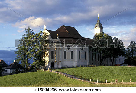 Stock Images of wieskirche, architectural, architectural style.
