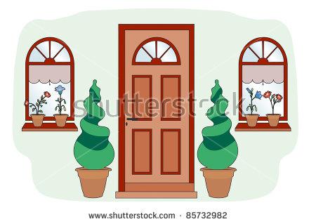 Blue Front Door Stock Photos, Royalty.