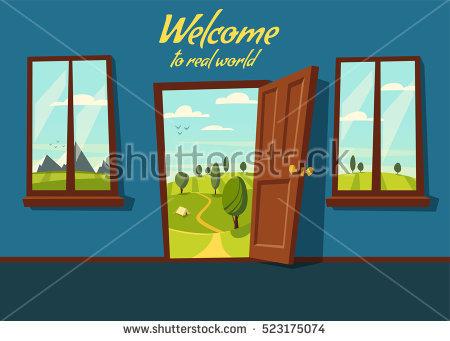 Cartoon Door Stock Photos, Royalty.