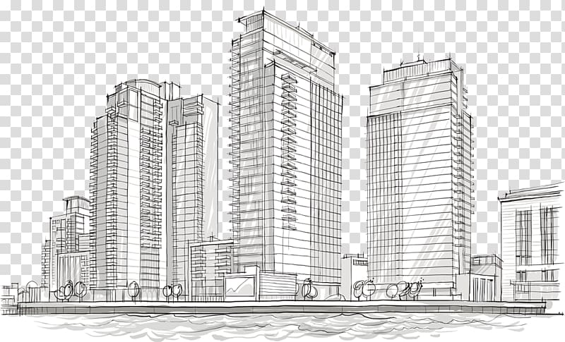 Architecture Building Architectural drawing Sketch, building.