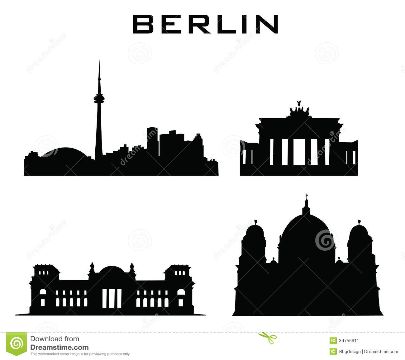 Berlin Buildings Architecture Stock Image.