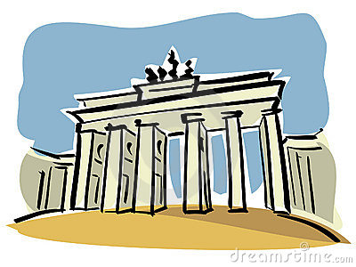 Berlin (Brandenburg Gate) Stock Image.