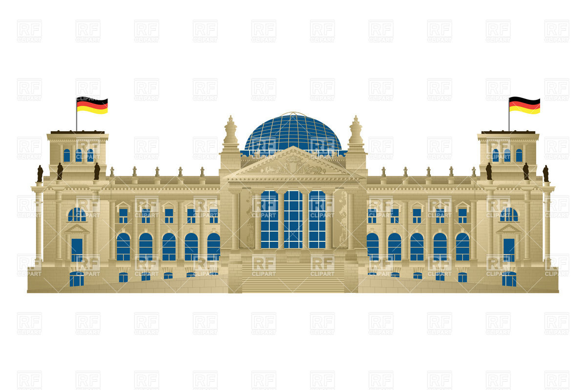 Reichstag building of parliament in Berlin Vector Image #6463.