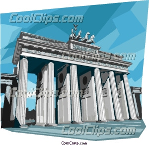 Germany Berlin Brandenburg Gate Clip Art.