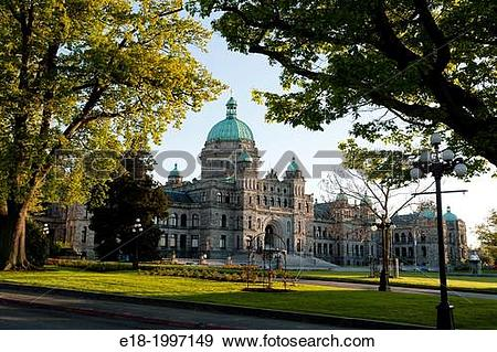 Stock Photograph of Canada, BC, Victoria. The British Columbia.