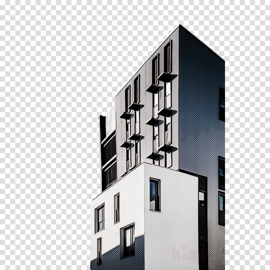 architecture house property facade building clipart.