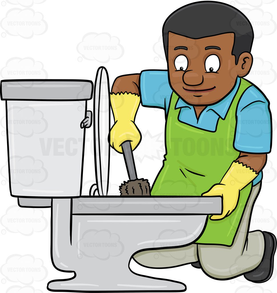 Man Cleaning House Clipart.