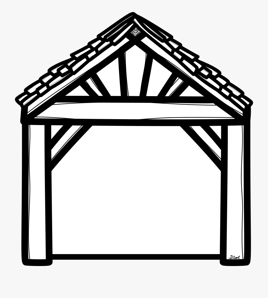 Stable Clipart Black And White , Free Transparent Clipart.