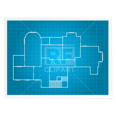 House plan architectural drawing Vector Image.